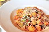 Tomato base spaghetti with cheese — Stock Photo