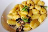 Mushroom Gnocchi cuisine — Stock Photo