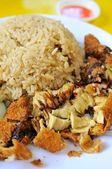 Delicious chicken rice — Stock Photo
