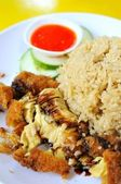 Traditional chicken rice delicacy — Stock Photo
