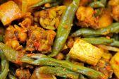 Macro of spicy bean cuisine — Stock Photo