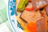 Vegetarian fish and mixed vegetables — Стоковое фото