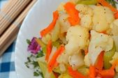 Asian white cauliflower — Stock Photo