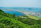 Bird's eye view of Jeju island — Stock Photo