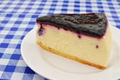Sumptuous blueberry cheesecake — Stock Photo
