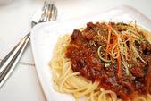 Spaghetti vegetariani sontuoso — Foto Stock