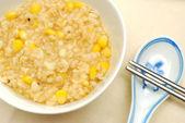 Healthy Chinese brown rice porridge — Stock Photo