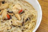 Healthy herbal noodles — Stock Photo