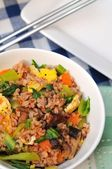 Closeup of fried rice — Stock Photo