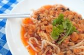 Spicy white noodles — Stock Photo
