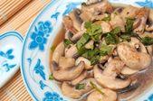 Closeup of Oriental style mushrooms — Stock Photo