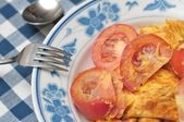 Tomato fried egg — Foto Stock