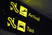 Signages at the airport — Stock Photo