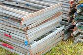 Industriell metall ramar — Stockfoto