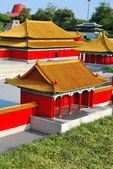 Vista superiore di architettura in stile cinese — Foto Stock