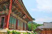 Koreanischen tempel-architektur — Stockfoto
