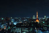 Night view of Tokyo tower — Stock Photo