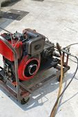 Sewage cleaning equipment — Stock Photo