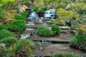 Waterfall in a Japanese zen garden — Stock Photo