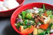 Chinese vegetable soup — Stock Photo