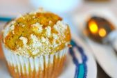 Coconut muffin for snack — Stock fotografie
