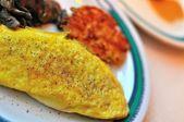 Egg omelet roll — Stock Photo