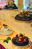 Visualización de varias tortas — Foto de Stock