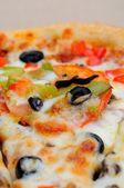 Makro pizza — Stockfoto