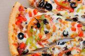 Bit svamp pizza — Stockfoto