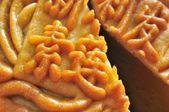 Macro of mooncake texture — Stock Photo