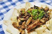 уникальный китайский стиль баклажанные блюдо — Стоковое фото