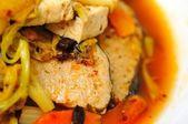 китайский пару рыба деликатесная — Стоковое фото