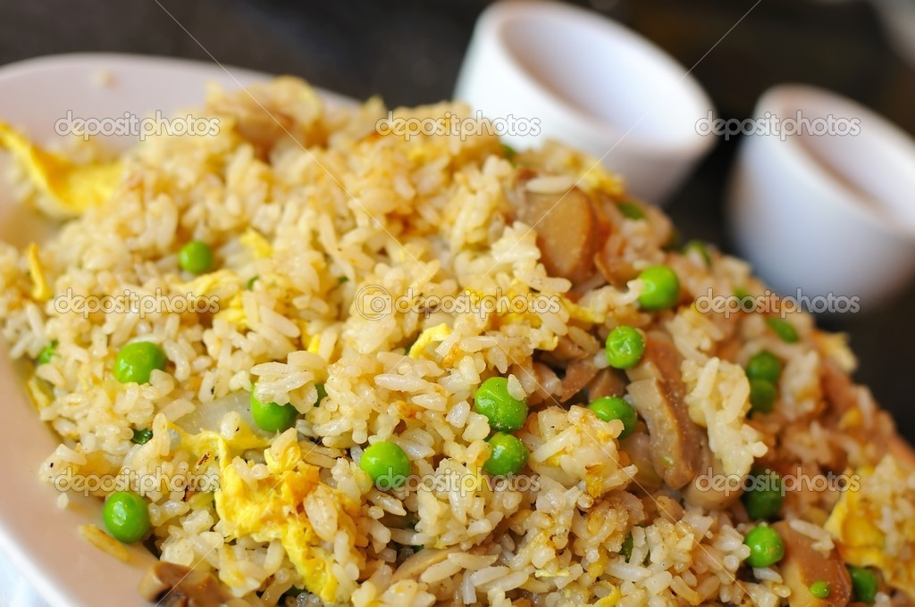 Asian style vegetable egg fried rice in restaurant. — Stock Photo #5841671