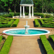 Fountain and pavilion — Stock Photo