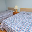 Double beds — Stock Photo
