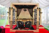 Malay wedding decorations — Stock Photo