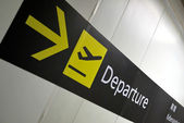 Departure signage — Stock Photo