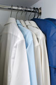 Wardrobe of business attire — Stock Photo