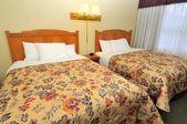 Zwei Einzelbetten in einem luxuriösen Zimmer — Stockfoto