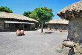 Traditional, Aboriginal village hut — Stock Photo