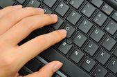 Prsty stisknutí na abeceda — Stock fotografie