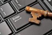 макрос старого ключа на клавишу enter — Стоковое фото