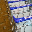 Trolleys stacked together. — Stock Photo