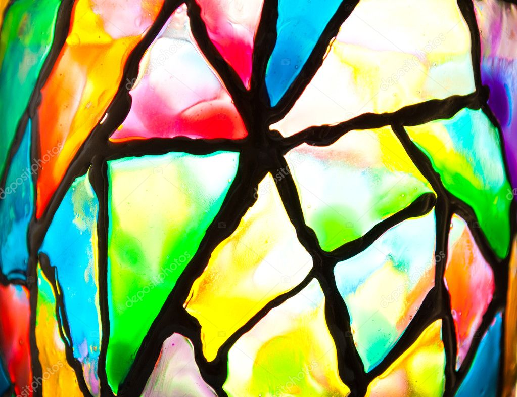 Color Stained Glass  Stock Photo #5822871