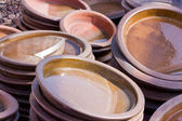 Terracota colored ceramics — Stock Photo