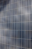 Solar panel with reflection of clouds — Stock Photo