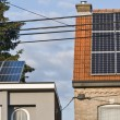 Solar panels are one of turnout for supply of free electricity — стоковое фото #6185464
