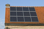 Solar panels are one of the turnout for the supply of free electricity — Foto Stock