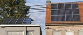 Sonnenkollektoren sind eine der die wahlbeteiligung für die versorgung der freien elektrizität — Stockfoto