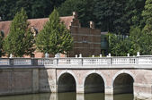 The bridge of castle d Ursel — Stock Photo